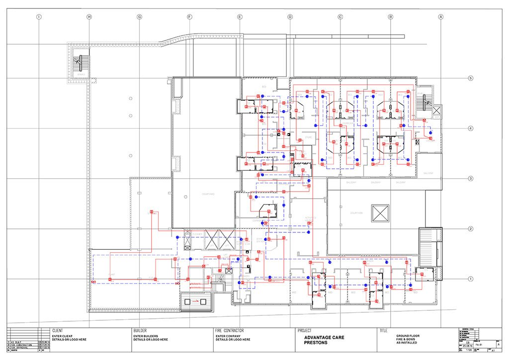 Fire Block Plans | Hydrant, Sprinkler, Fire Alarm Block plans In AutoCAD