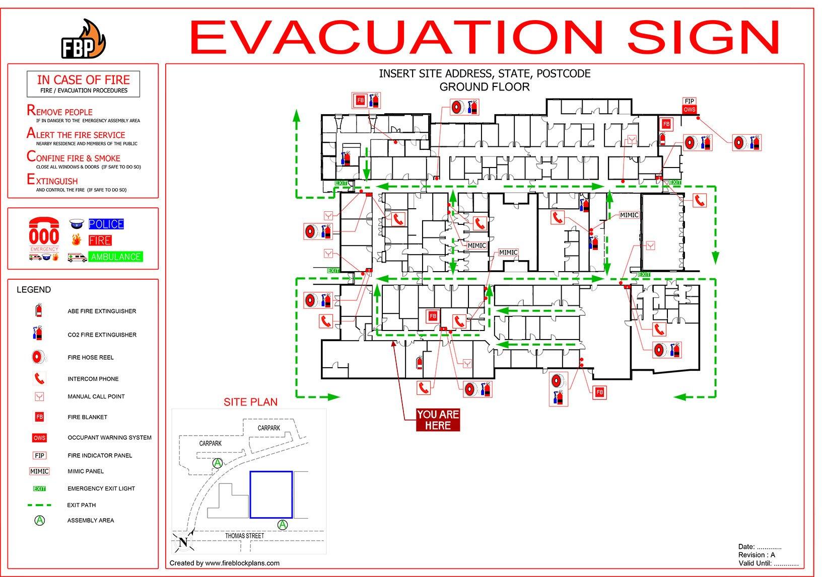 Evacuation Diagrams