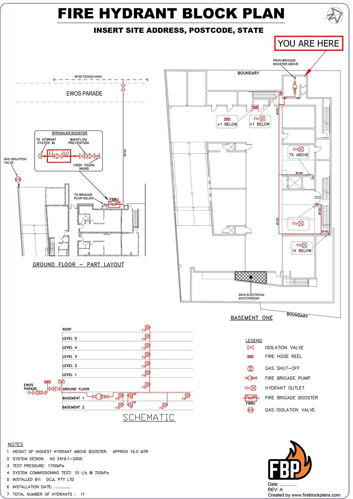 Block Plans - Hydrant, Fire Alarm, Sprinkler - Australia Wide