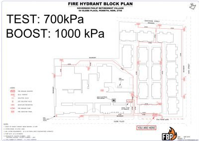 Governor Philips Retirement Village Hydrant Block Plan