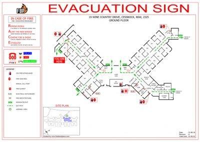 Calvary Cessnock Evacuation Diagram
