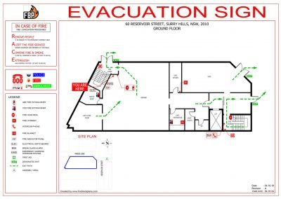 60 Reservoir Street Evacuation Diagrams