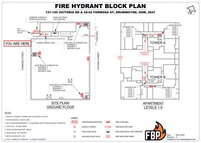 Fire Hydrant Block Plan