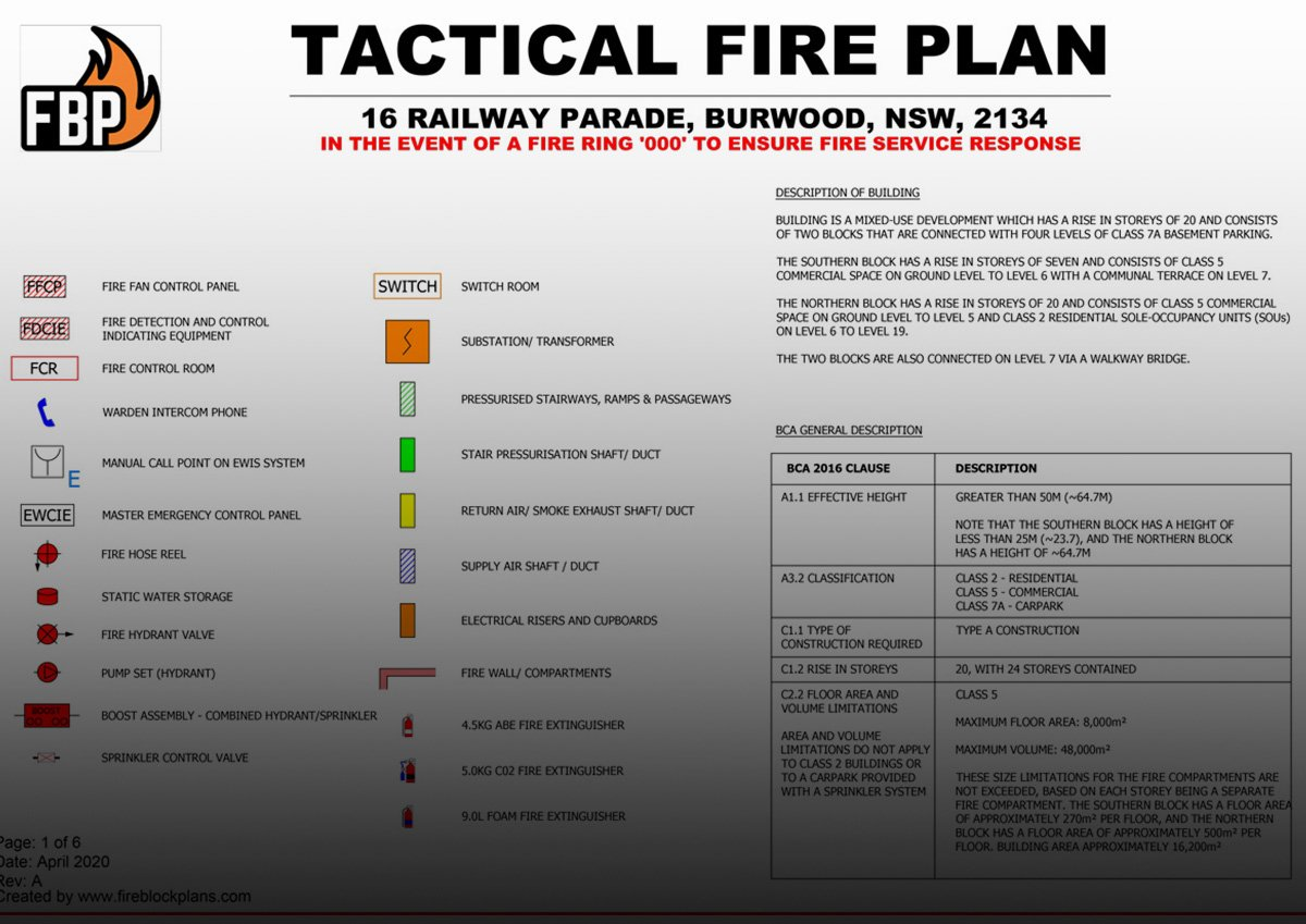 Tactical Fire Plan